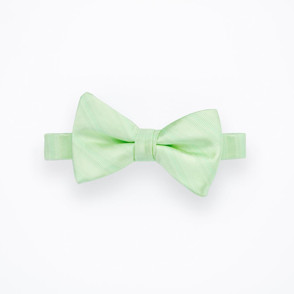 Honeydew Striped Bow Tie