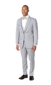 Heather Gray Notch Lapel Suit - View 2