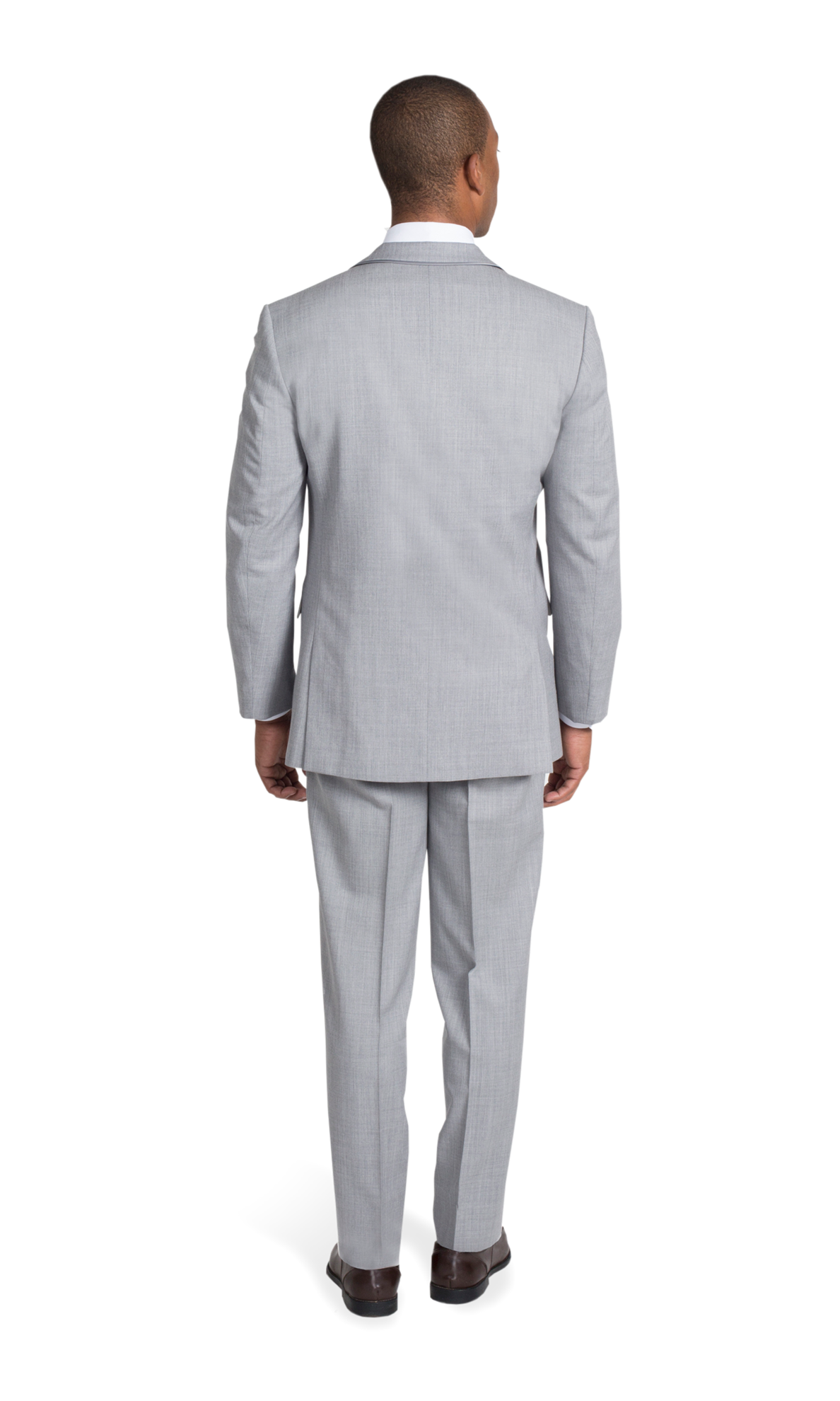 Heather Gray Notch Lapel Suit - View 4