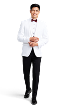 White Tuxedo Dinner Jacket Online Rental 1