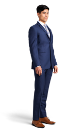 Dark Blue Notch Lapel Suit Online Rental 2