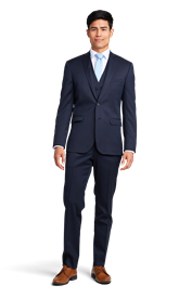 Navy Blue Notch Lapel Suit Online Rental 1