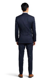 Navy Blue Notch Lapel Suit Online Rental 2