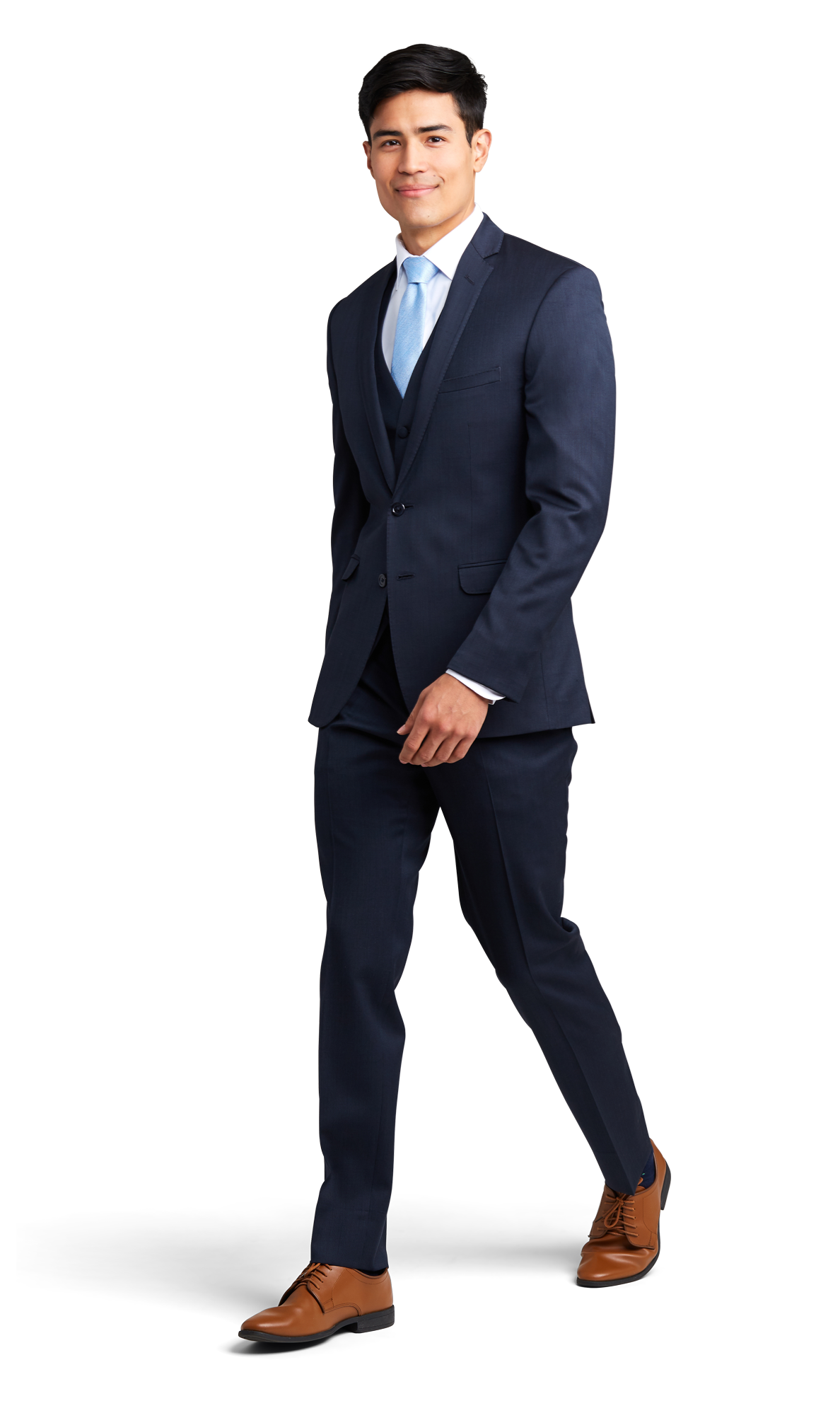 Navy Blue Notch Lapel Suit Online Rental 3