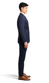 Navy Blue Notch Lapel Suit Online Rental 4