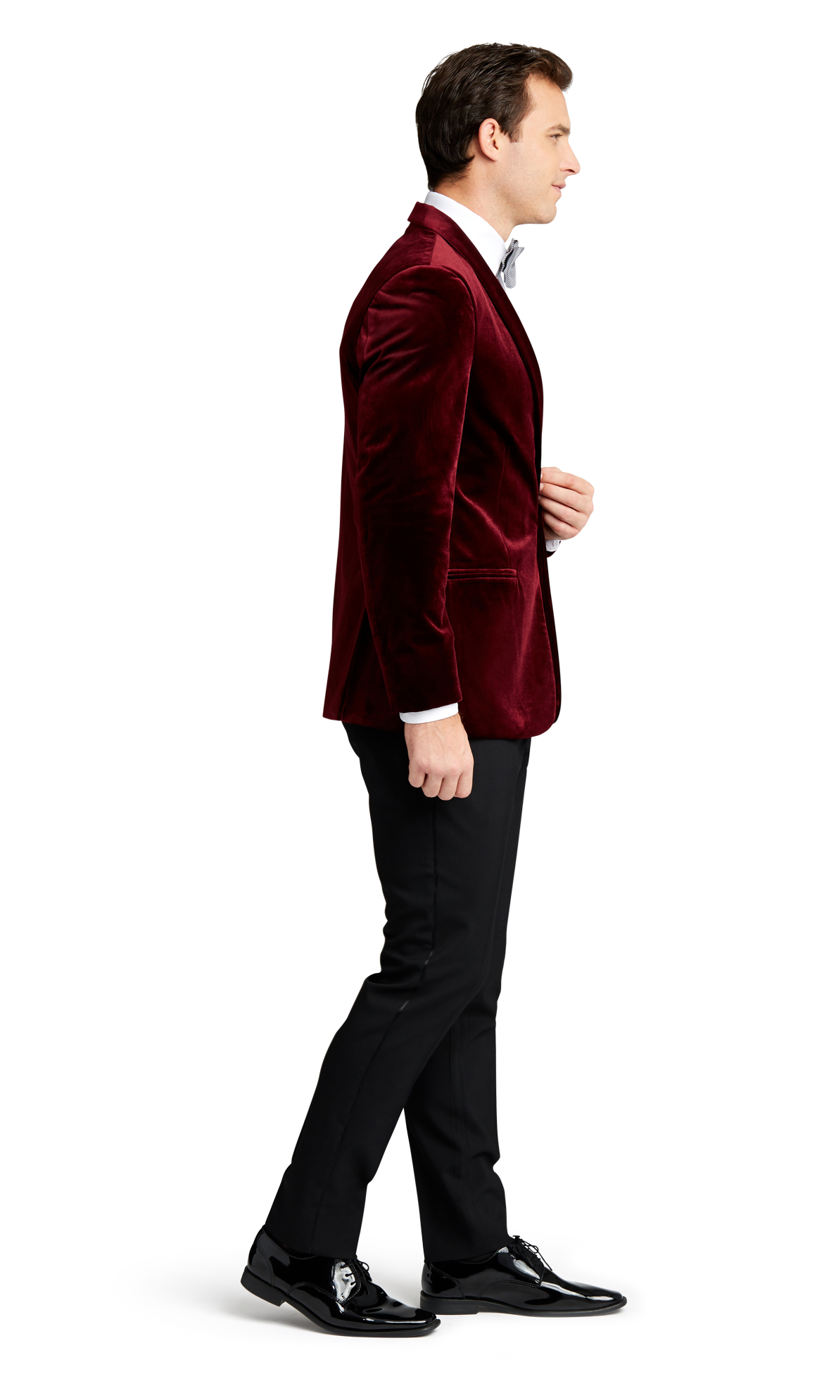 Burgundy Velvet Brooklyn Tuxedo Online Rental 2