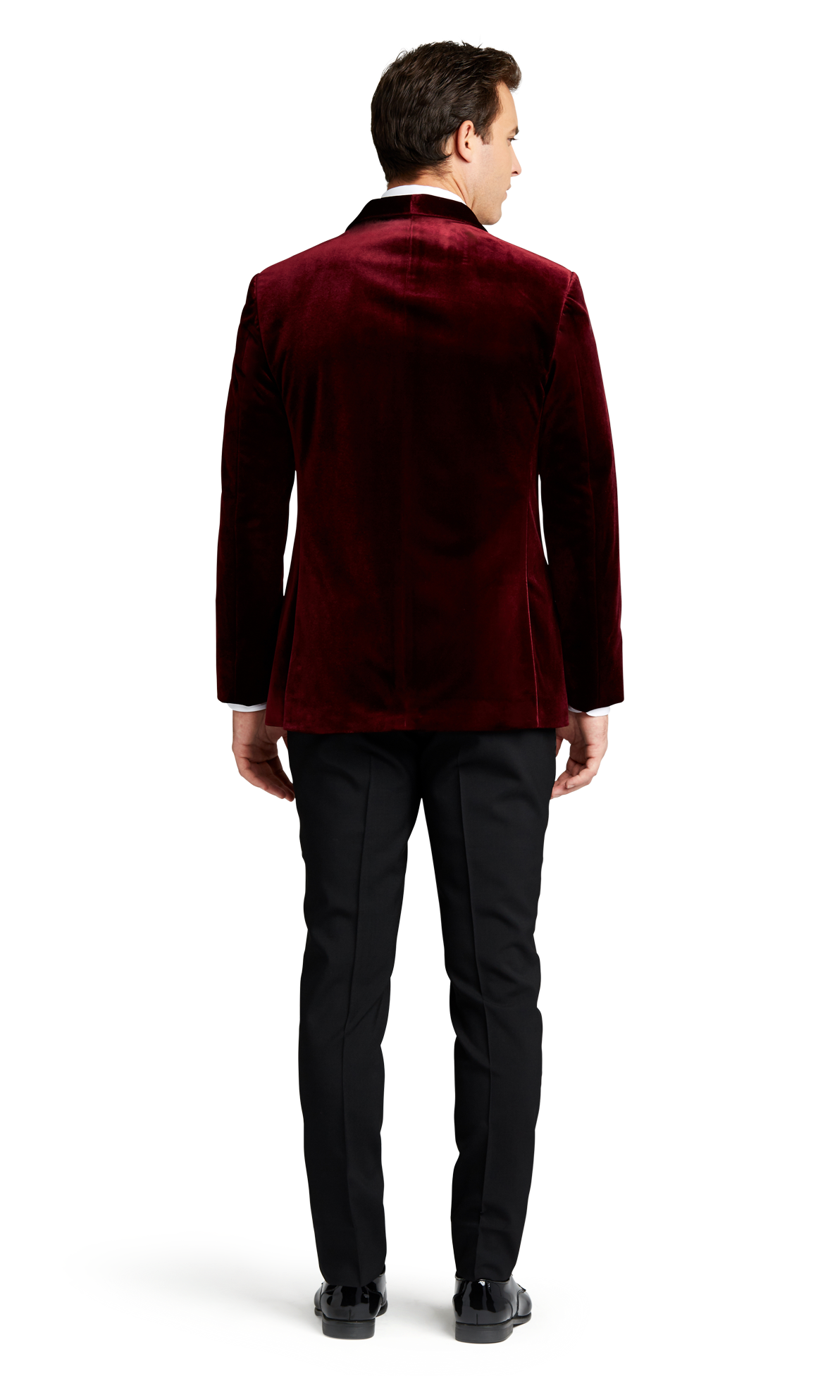 Burgundy Velvet Brooklyn Tuxedo Online Rental 3