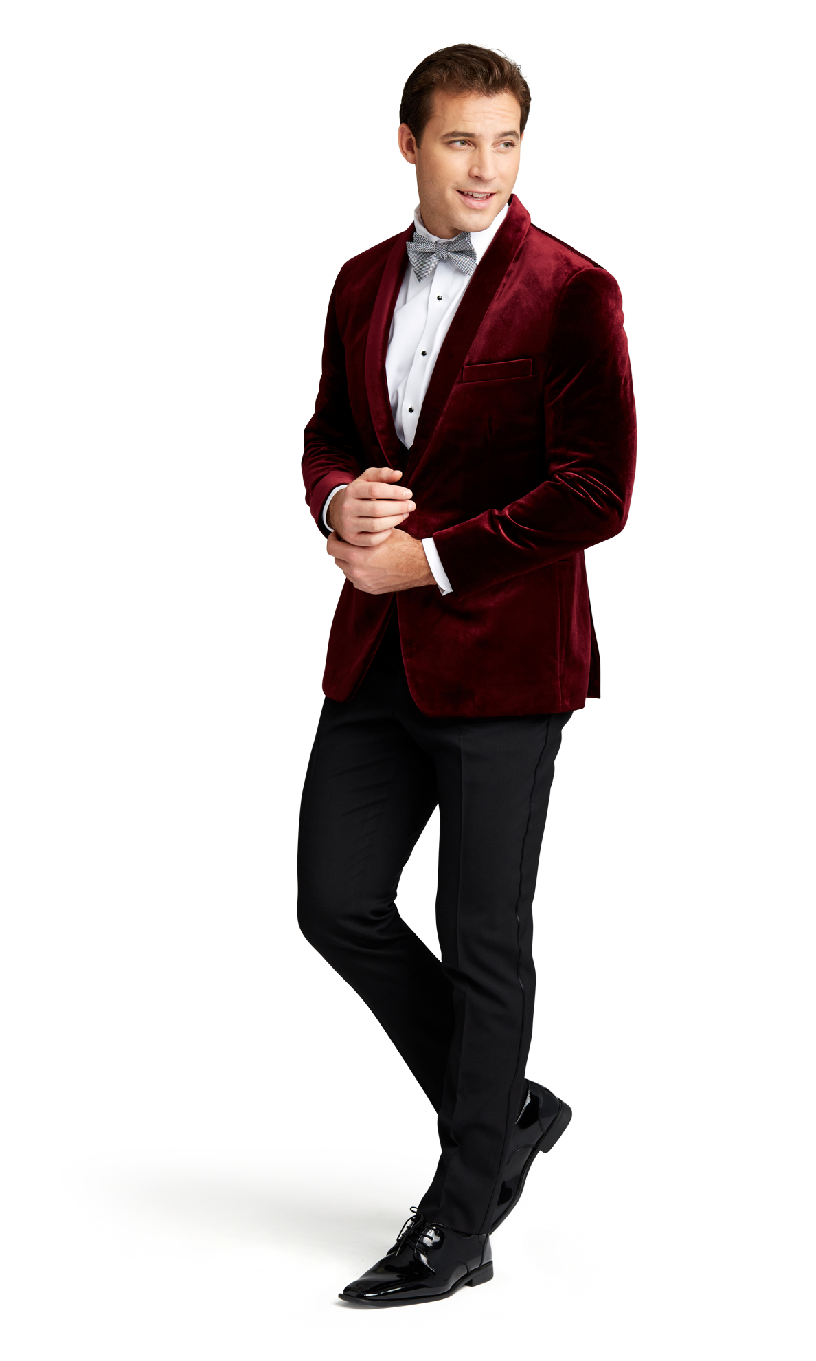Burgundy Velvet Brooklyn Tuxedo Online Rental 4